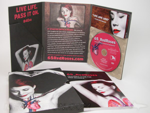 custom cd packaging paper tray digipak